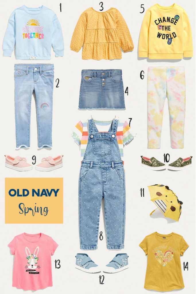 Spring Old Navy Outfits for Toddler Girls 2021