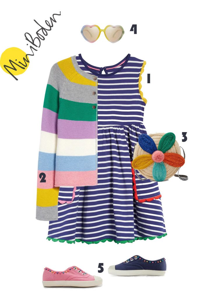 Striped Girl Outfit | MINI BODEN