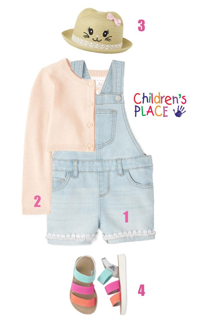 Baby and Toddler Girl Outfit in Pastel Shades