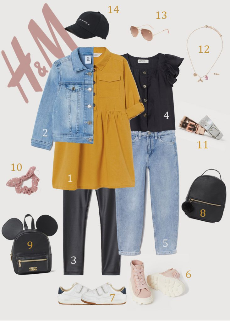 """HM Outfit """"Black-Pink"""" for Girls (2-10 years )"""