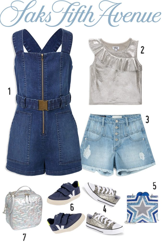 """Girl """"Silver-Blue"""" Outfit   Saksfifthavenue"""