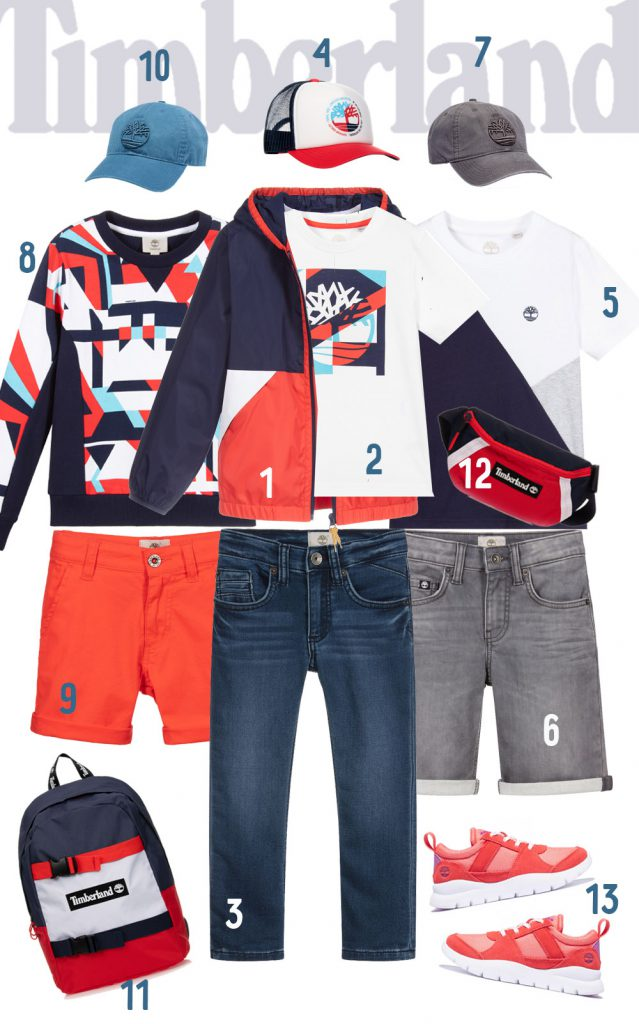 Spring Timberland Outfits for Boys (4-16 years)
