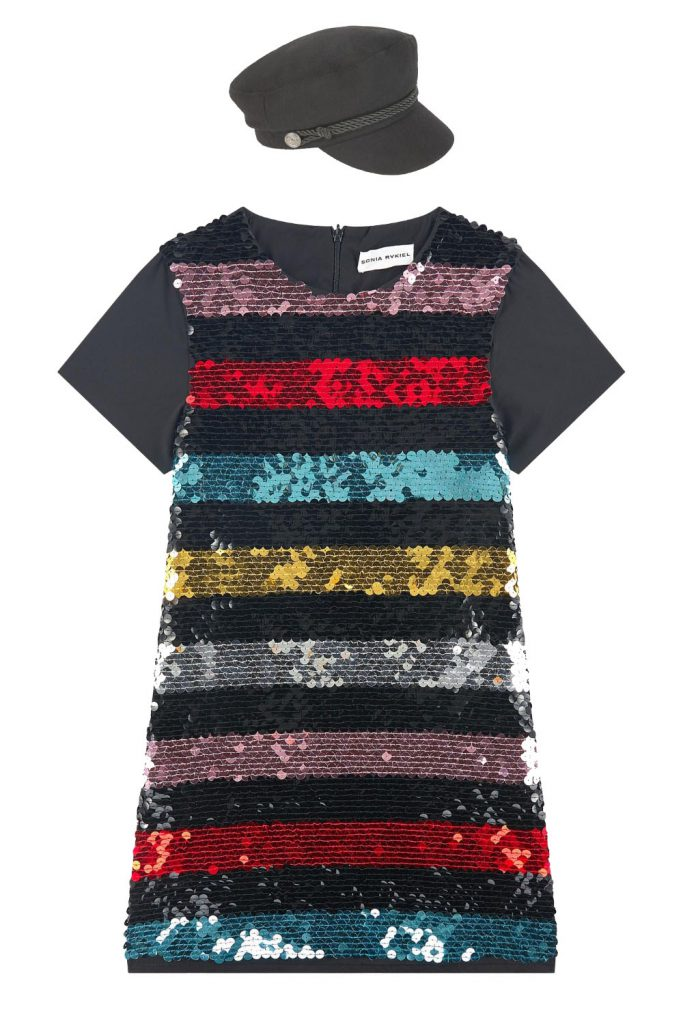 Striped dress with sequins   Sonia Rykiel