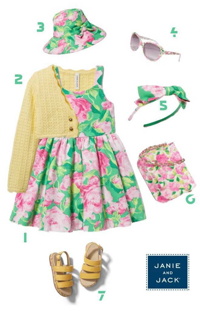 Floral Outfit with roses pattern for Girls