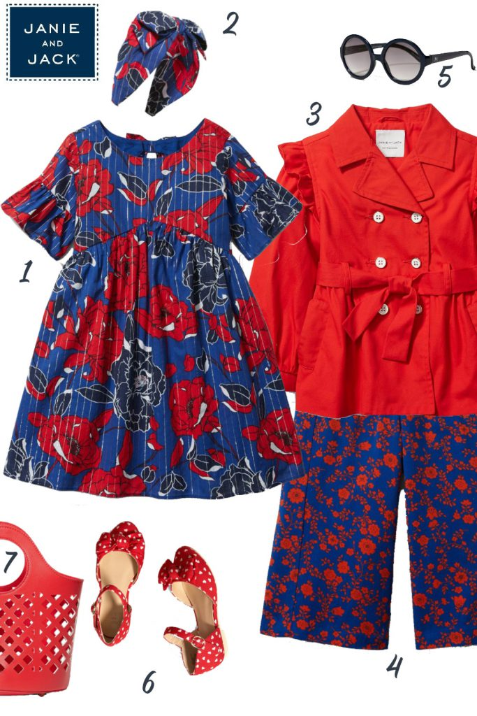 Blue-red outfit for girls 6M-12Y | Janie and Jack