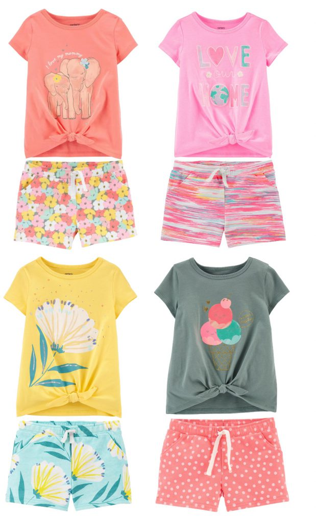 Carters Shorts and Tops | New Arrivals for Toddler Girl