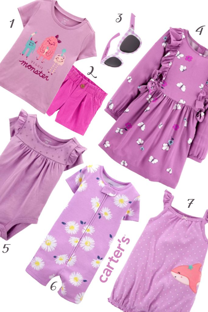 Girls Purple Carter's Baby Clothing
