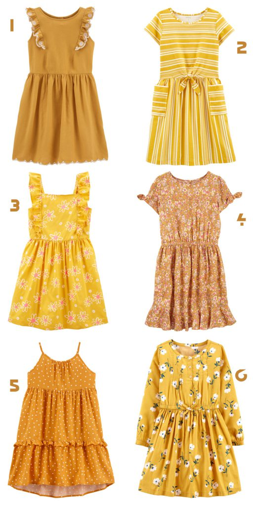 Yellow kids dresses | SALE 50% | Carters